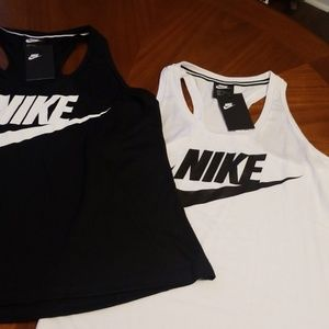 Nike Slim fit racer back tank top poly model blend